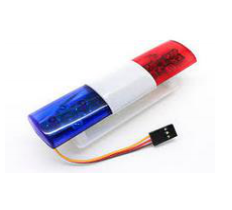 Police Car LED Lighting System Squared Style (Blue / Red)