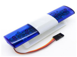 Police Car LED Lighting System Oval Style blue