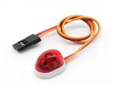 Police Car Style Single LED Light Red