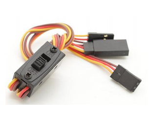 Heavy Duty RC Switch On Off with LED 3 Pin JR Futaba Lead Connectors 22AWG