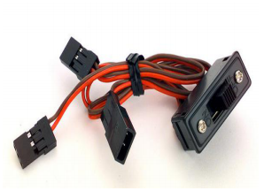 Futaba 3 Lead RC Switch Harness with On Off Switch and Charging Lead