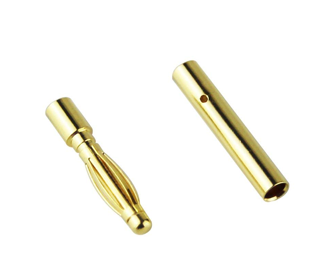 2.0mm Gold Plated Male and Female Bullet Banana Connectors Plugs for DIY RC Battery ESC Motor