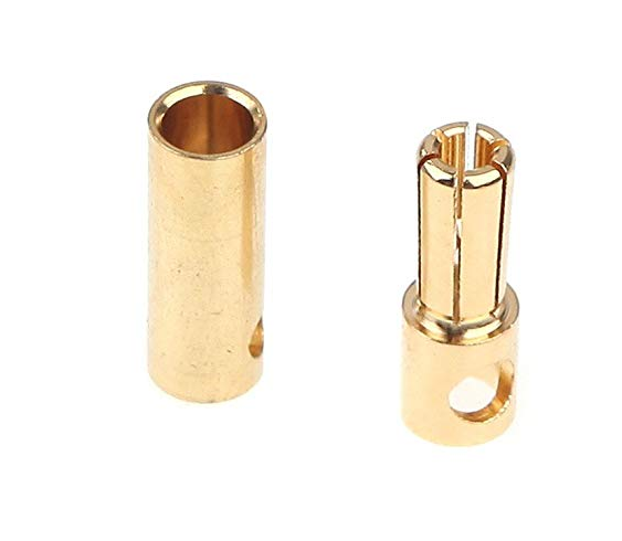 5.0mm gold plated plug male and female