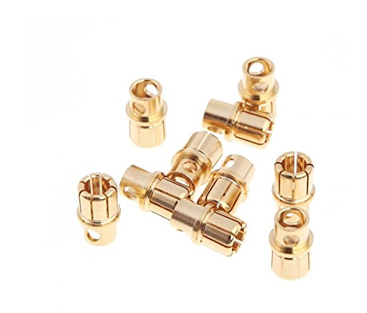 8.0mm gold plated plug male and female