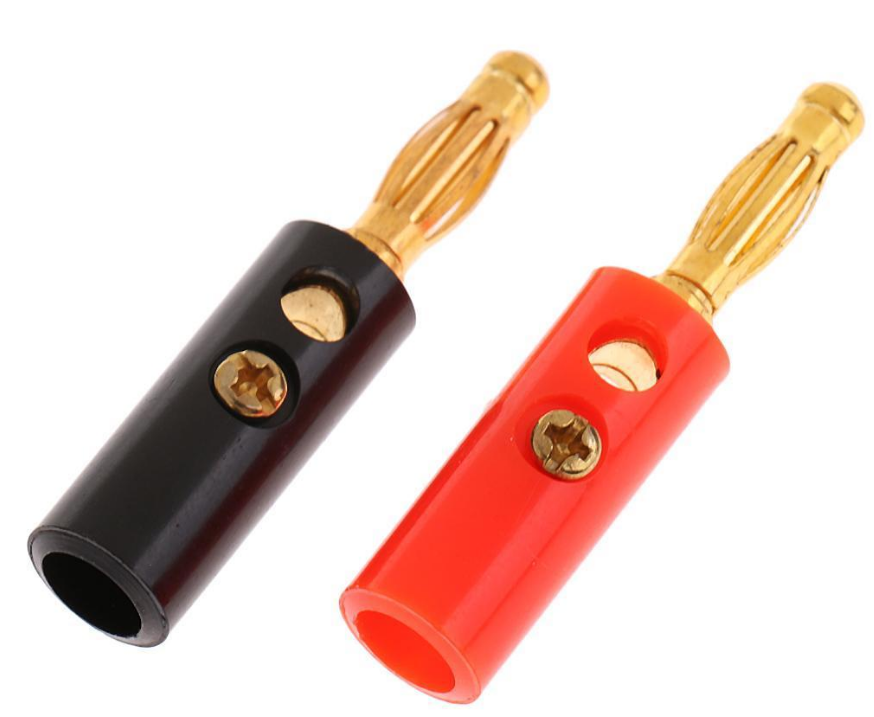 4.0mm banana gold plug male and female with plastic